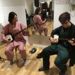 日本在住外国人のご夫婦 三味線体験