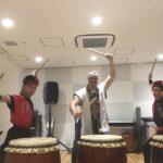 イタリアミラノからサムライを愛する男性和太鼓体験