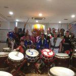 ベルギー、イギリス、オーストラリアからのお客様 和太鼓体験
