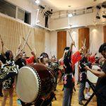 メディア取材 中国北京から中学校、高校3校合同で和太鼓体験