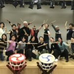 金曜日のアフターシックスに幼稚園の先生16名様で和太鼓体験